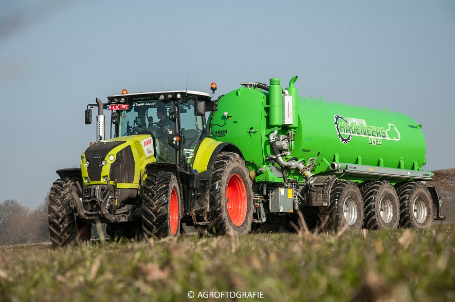Claas Axion 850 & 810 + Joskin Cargo 26000 (ketsplaat, 12-03-2016, Haveneers) (22 van 46)