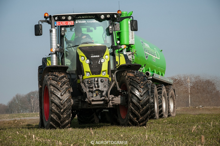 Claas Axion 850 & 810 + Joskin Cargo 26000 (ketsplaat, 12-03-2016, Haveneers) (24 van 46)