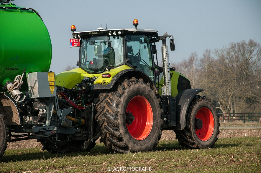 Claas Axion 850 & 810 + Joskin Cargo 26000 (ketsplaat, 12-03-2016, Haveneers) (31 van 46)