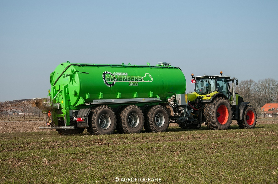 Claas Axion 850 & 810 + Joskin Cargo 26000 (ketsplaat, 12-03-2016, Haveneers) (32 van 46)