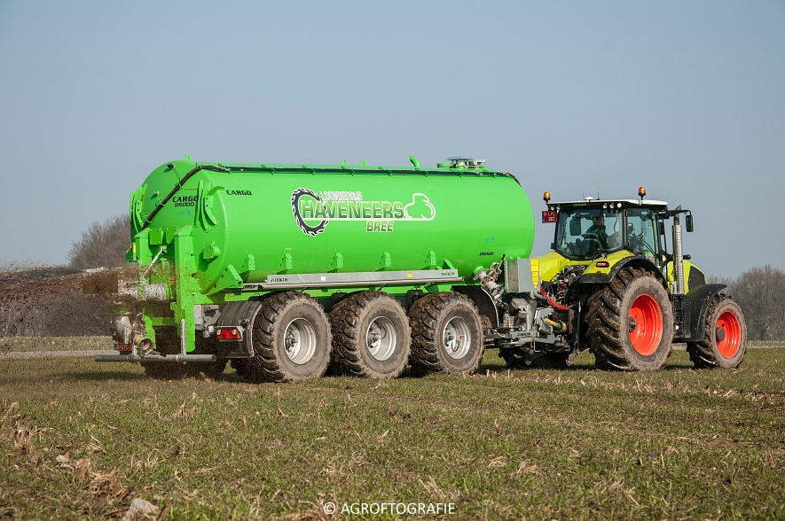 Claas Axion 850 & 810 + Joskin Cargo 26000 (ketsplaat, 12-03-2016, Haveneers) (41 van 46)