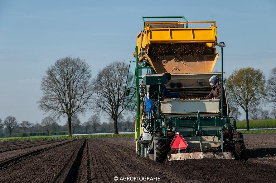 John Deere 6620 + M H bloembollenplanter (10)jpg