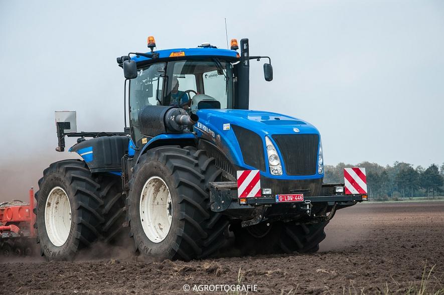 New Holland T9560 + Kuhn Performer 5000 (Cultiveren, Franken Agro, 16-07-2016) (31 van 74)jpg