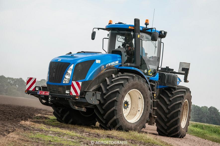 New Holland T9560 + Kuhn Performer 5000 (Cultiveren, Franken Agro, 16-07-2016) (69 van 74)jpg